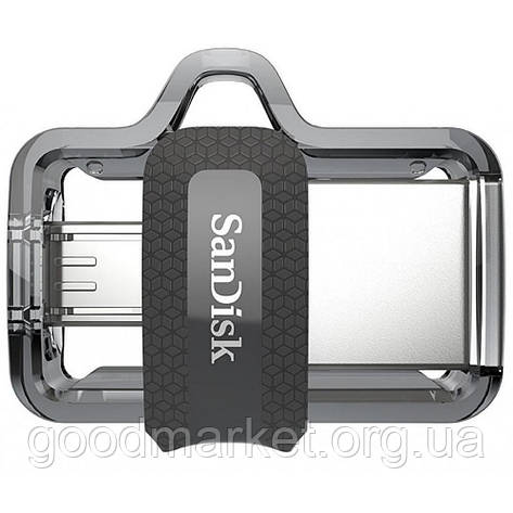 Флешка SanDisk 16 GB USB Ultra Dual OTG USB 3.0 Black (SDDD3-016G-G46), фото 2