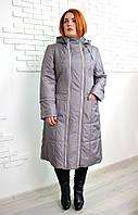 """Пальто для женщин """"Аврора"""" р. 48-56 светло-серый"""