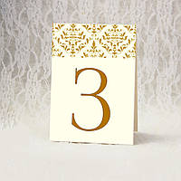 Номерки на столы золотистые (Арт. TN-5465)