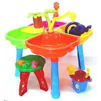 Песочный столик набором, стульчиком, лейкой  01-121-1 ZNX
