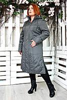 """Пальто для женщин """"Аврора"""" р. 48-56 темно-серый"""
