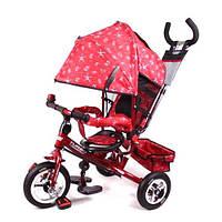 Велосипед М 5361-5 надувные три колеса, колясочный, красный, усиленная двойная ручка KDC