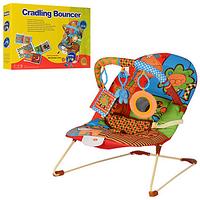 Шезлонг-качалка детский BR 20886-1  дуга,подвеск3шт,вибро,муз 49,5-34,5-8см VDP