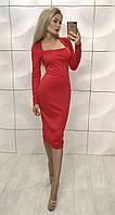 Платье футляр миди Sindy красное, фото 1