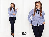 Костюм большого размера ,рубашка материал: коттон, брюки материал: костюмная ткань много цветов ефран№70088