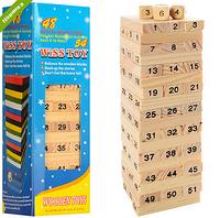 Деревянная игрушка Игра M00836  башня, в кор-ке  5,5-19-5,5см ZV