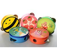 Деревянная игрушка Бубен MYH1213A диаметр 10,5см, 5 видов, в кульке ZN
