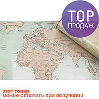 Скретч карта мира в подарочном тубусе (Анг. язык)