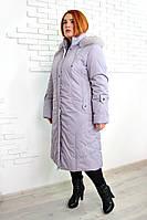"Пальто евро зима ""Анжелика"" р. 50-52 сирень, фото 1"