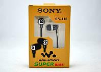 Наушники Sony SN-116 с микрофоном ZV