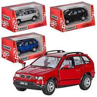 HU Машинка жел KINSMART KT 5020 W (96шт) инер-я, 1:36 BMW X5 , 4 цвета VM