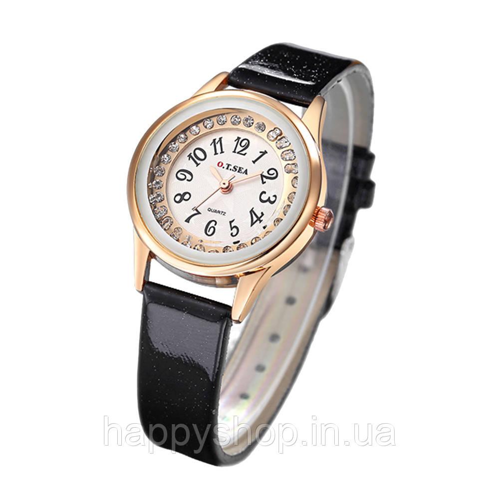 Женские кварцевые часы O.T.SEA (Черные)