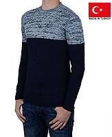 Мужской вязанный свитер осень-зима.