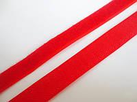 Лента-липучка, 20 мм, цвет красный, 20 см
