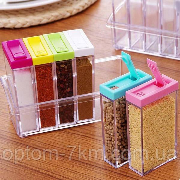 Компактный Органайзер для Специй Seasoning Six Piece Set H