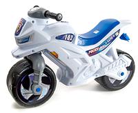 Мотоцикл 2-х колесный полицейский с каской  арт. 501 ZNC