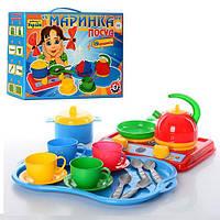 """Игрушка посуда """"Маринка ТехноК"""" в картонной коробке, арт. 1554  VZ"""