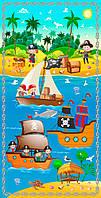 """Панельки из хлопковой ткани """"Пираты"""", размер 51*105 см"""