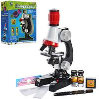 Микроскоп C2121 21см, свет, стёкла, флакон 2 шт, контейнер, в кор-ке XC