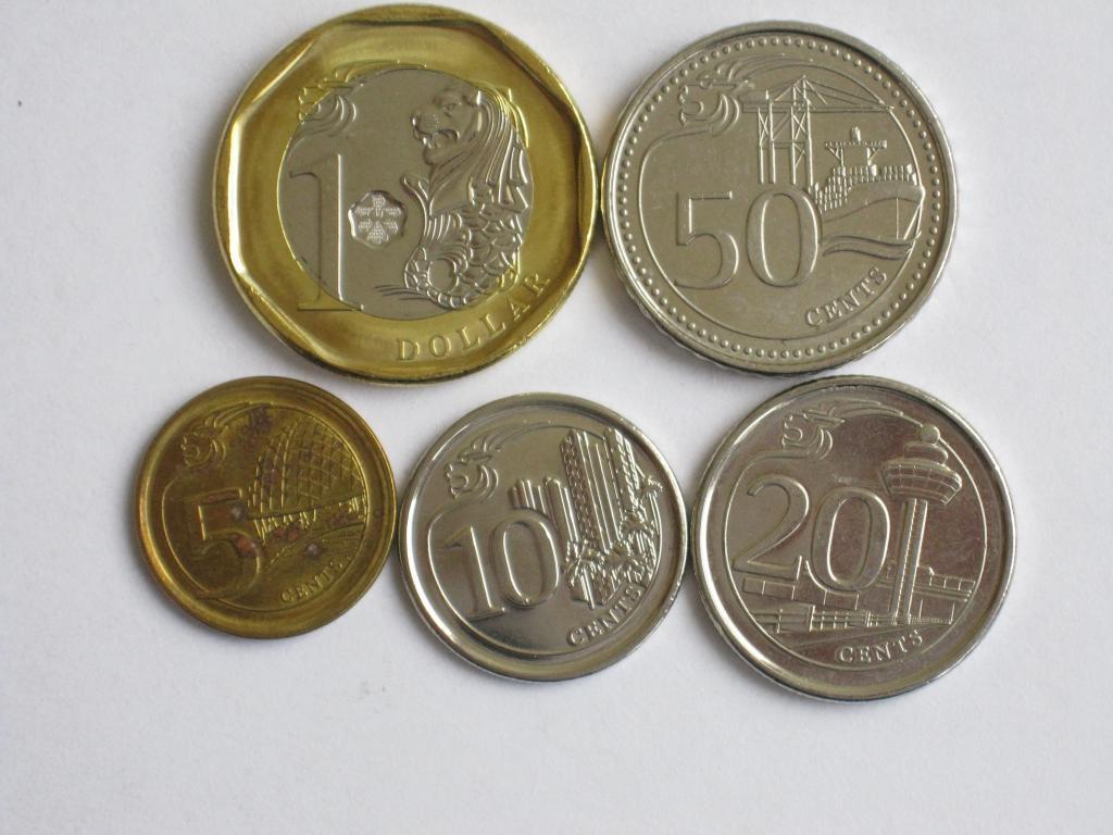 Сингапур 5 монет 2013