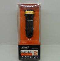 Автомобильное зарядное LDNIO 2 USB 2.1A (C21)