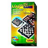 Шахматы 2831 (240шт) 3 в 1 мал, в кор-ке, 13,5-7,5-2см FZ