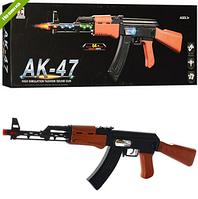 АВТОМАТ AK-47 62см, свет, вибро, подвижная пуля, на бат-ке, в кор-ке NC