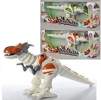 Динозавр TT329  ходит, двиг.головой,звук, свет, 2цвета,на бат-ке  42*11*16см XP