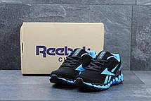 Модные мужские кроссовки Reebok Zignano черные с голубым 44, фото 3