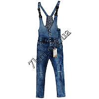 Комбинезон джинсовый подросток для девочек 8-16 лет оптом P-735