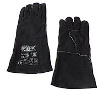 Перчатки замшевые (краги) чёрные Werk WE2127