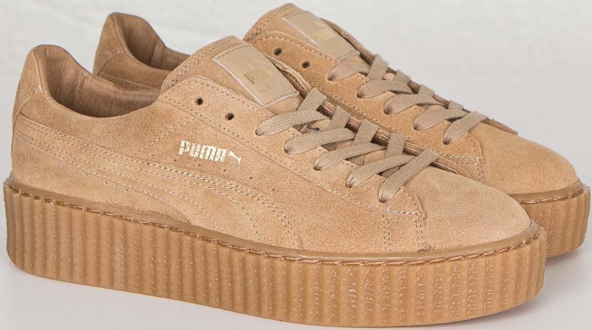 149535ca Кроссовки женские Puma Suede Creeper x Rihanna Wheat, замша, беж ...