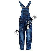 """Комбинезон джинсовый подросток для девочек """"Звездочки"""" 6-16 лет оптом 5122"""