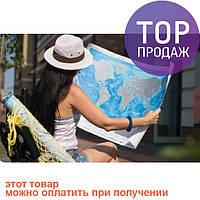 Скретч карта Discovery Maps World на украинском языке с авоськой
