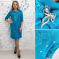 Стильное платье приталенного силуэта размер 50-56