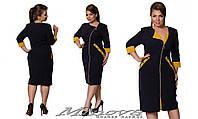 Элегантное повседневное платье на молнии большого размера 52-58