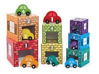 Игрушка для мальчика ТМ Melissa&Doug Набор блоков-кубов Автомобили и гаражи