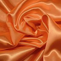 Атлас плотный персик, фото 1