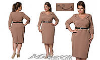 Платье футляр большого размера бордо от фабрики Минова  размер  52-58