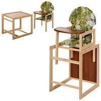 Стульчик для кормления деревянный М V-002-9