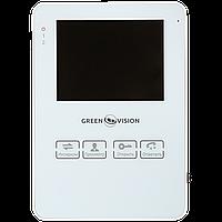 Цветной видеодомофон Green Vision GV-051-J-VD4SD white.