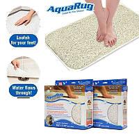 Впитывающий антискользящий коврик для ванной Aqua Rug DX