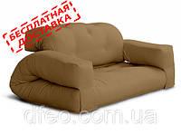 """Диван кровать""""hippo"""" св. коричн. бескаркасный диван, диван раскладной,маленький диван,диван трансформер."""
