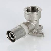 """Пресс-фитинг - угольник с креплением ( водорозетка ) 26 мм х 3/4"""" VALTEC VTm.254.N.002605"""