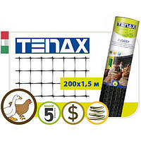 Вольерная сетка TENAX AVIARY, черная, 200*1,5 м