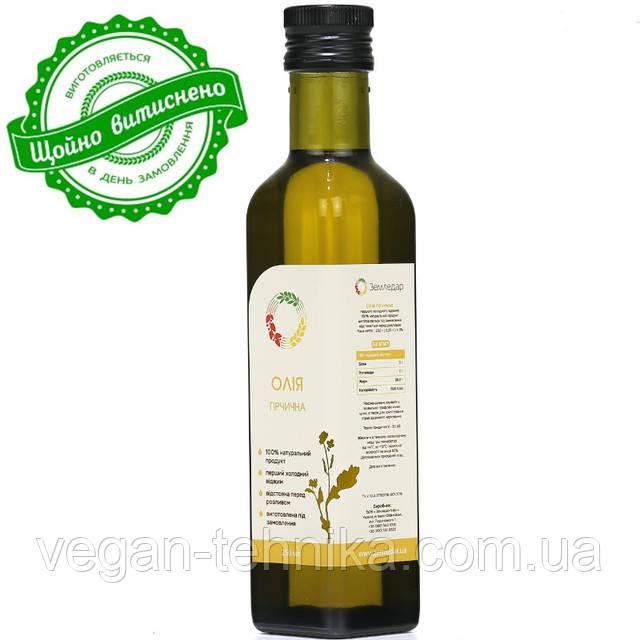 Горчичное масло холодного отжима (сыродавленное)