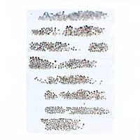 Стразы хамелеон,в  ячейках с разным размером 720 шт