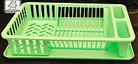 Пластиковая сушка для посуды одноярусная С013 салатовая