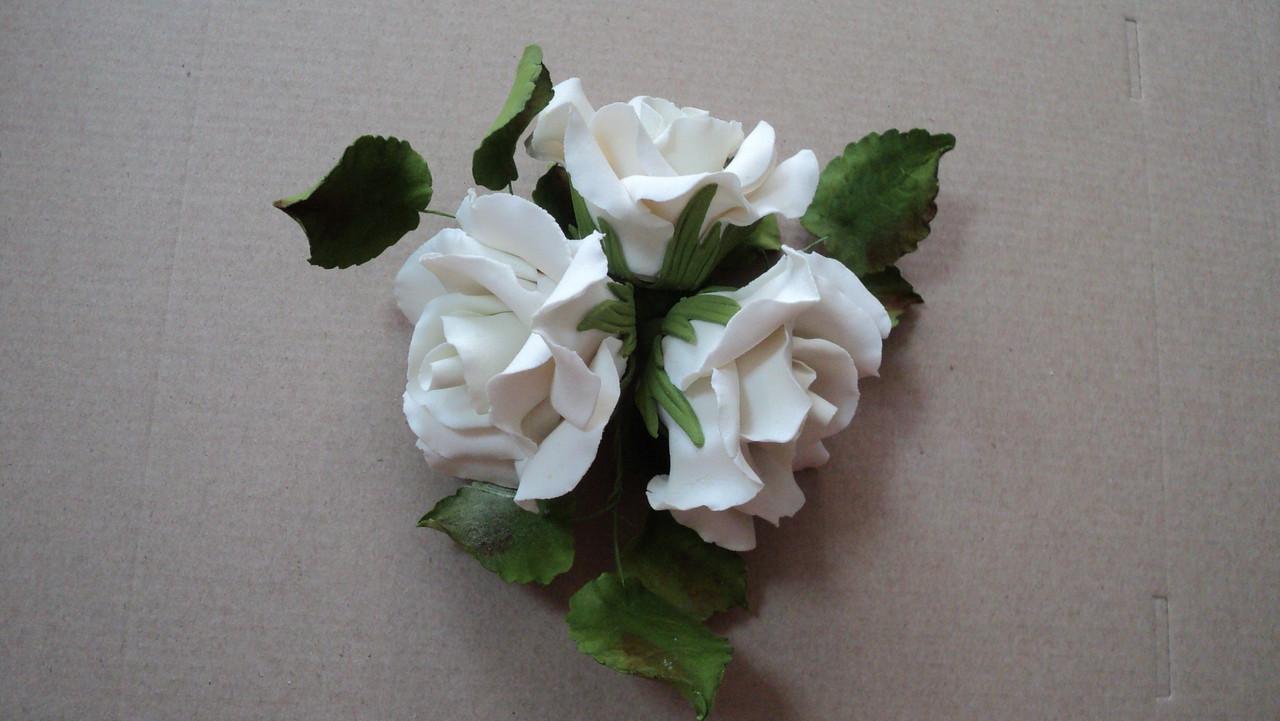 """Букет """"Розы белые"""" d160 3шт. Украса - 03018"""