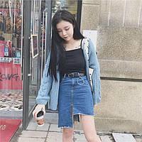 Юбка женская джинсовая рваная